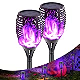 Llama Solar Luces, Luces Solares Al Aire Libre, Solar Dancing Flame Led Torch Stake Flickering Outdoor Garden Lights, Solar Power Torch Light Waterproof Flame Flickering Garden Lamp for Garden