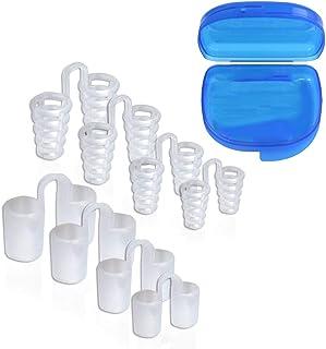 ノーズピン,CCYCCL 改良版 水洗い可 専用ケース付 鼻腔拡張 安眠グッズ いびき対策 防止 8個セット 4種サイズ×2種柔軟性