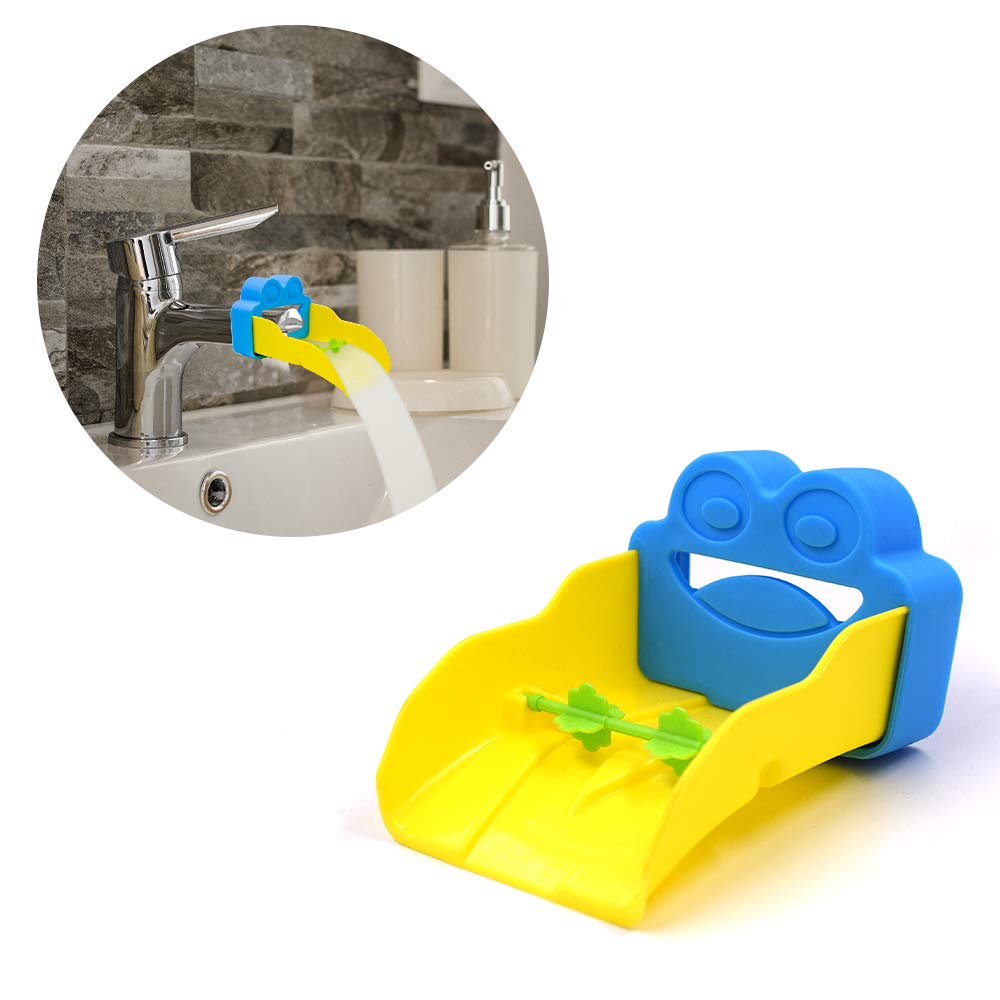 Faucet Extender Cover, Cute Frog Design Safety Faucet Extender for Children Toddler Kids Hand Washing Baby Kids Hand Wash Helper Bathroom - Cute Frog
