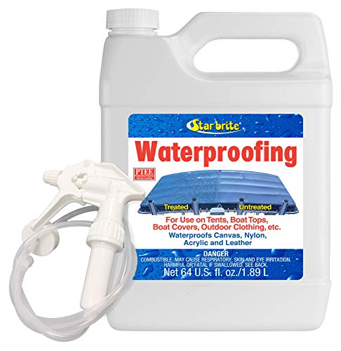 STAR BRITE Waterproofing Spray, Waterproofer + Stain Repellent + UV Protection - 64 OZ (081964)