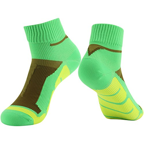 RANDY SUN Ankle Socks, [SGS Certified] Men's Soft Socks Completely Waterproof Yellow & Green & Brown Medium