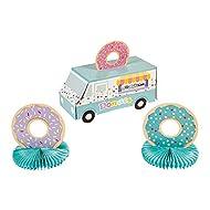 Donut Party Centerpiece (3 piece set) Sweets Party Decor