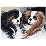 ZFSDD 5D Diamond Painting Mosaic DIY Cavalier King Charles Spaniel pet Embroidery Stitch Cross Arts Craft for Home Gift Full Drill-Circular Drill 40x50cm