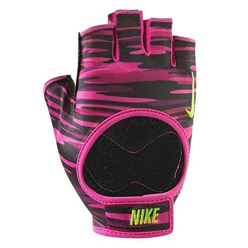Nike Damen Trainingshandschuhe, schwarz/pink, M, N.LG.B0.617.MD