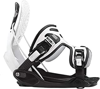 Flow 2020 Alpha White Stormtrooper Snowboard Bindings - X-Large - Upgraded