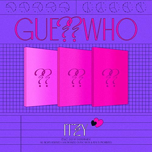 ITZY - GUESS WHO Album+Pre-Order Benefit+Folded Poster+Extra Photocards Set (DAY&NIGHT ver.)