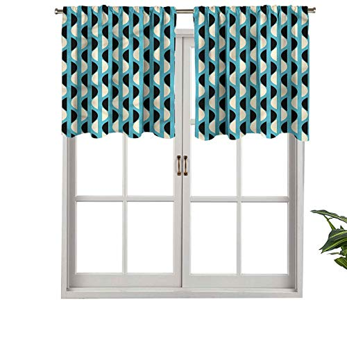 Hiiiman - Juego de 1 cortina para ventana de cocina, 127 x 45 cm