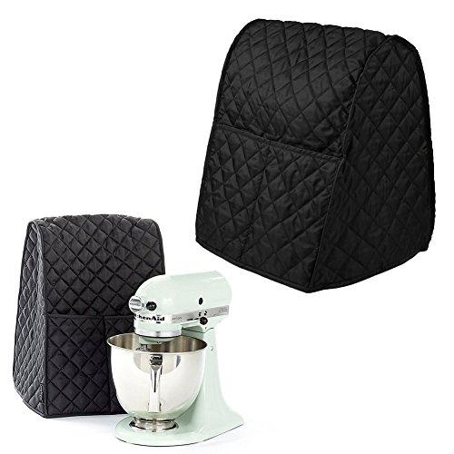 Kicode Batteur sur socle couverture anti-poussière avec sac Organisateur pour KitchenAid Mixer, Accueil Fournitures Décoration (Noir)