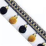 XinYiC Pom-Pom-Perlenbesatz, Quasten, Band, Nähen, Spitzenborte zum Nähen, Kissen, Vorhänge, Hochzeitsdekoration, Kostüm-Zubehör, 3 Meter – #A
