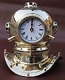 Retro US Navy Antiguo Metal Sólido Mini Buceo Casco con Reloj...