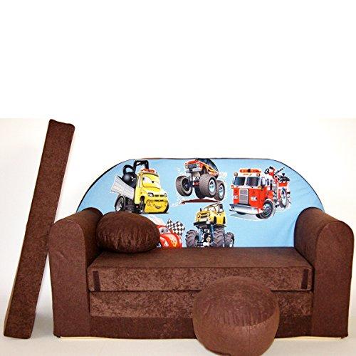 K14-a Bébés pour enfants Mini Canapé bébé Canapé lit Pouf Lot de 3 en 1 d'oreillers en mousse