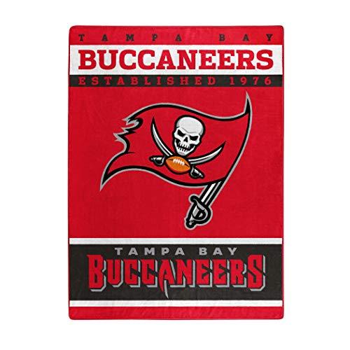 """NFL Tampa Bay Buccaneers """"12th Man"""" Raschel Throw Blanket, 60"""" x 80"""""""