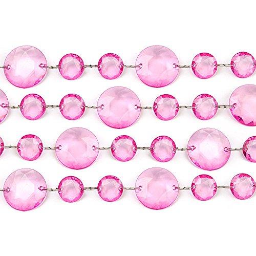 Partydeco CC02 – 006-karton – Guirlande de Cristal, Rose