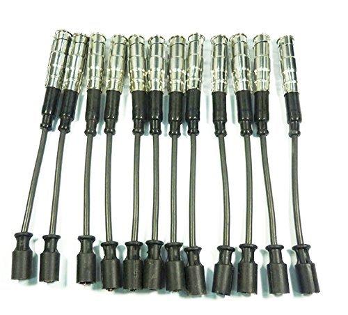 Lot de 12 câbles d'allumage pour bougie d'allumage 0356912950 - Pour C320 E320 - 12 pièces - C240 1998 1999 2000 2001 2002 2003 2004 2005