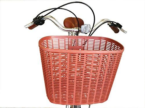 Vélo de ville pour femme en alliage 700C Ecosmo Shop City Road Vélo 7V -28AC02B + Panier