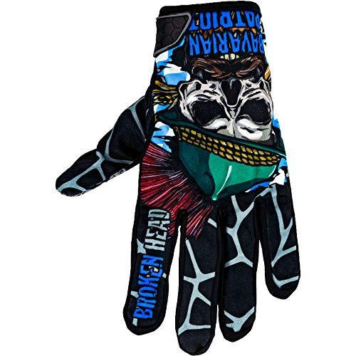 Broken Head MX-Handschuhe Bavarian Patriot - Motorrad-Handschuhe Für Motocross, Enduro, Mountainbike - Schwarz - Blau (XS)