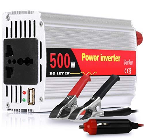 Inversor Tensão 500w 12v Para 110v Veicular Transformador Conversor Com Tomada Padrão e Usb
