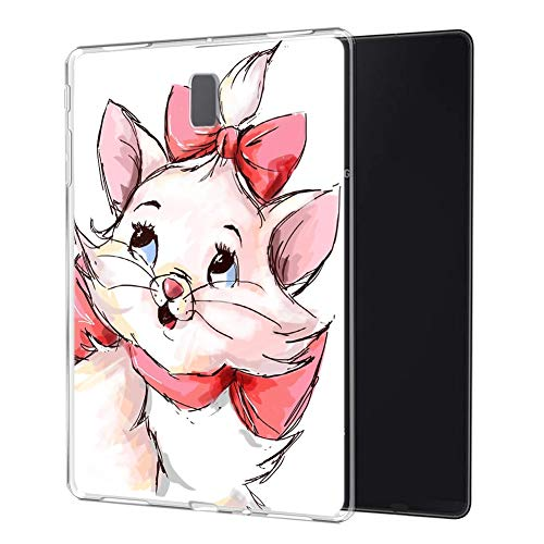 Pnakqil Samsung Galaxy Tab S4 10.5 Case Clear Silicone Gel TPU with Pattern Cute Transparent Rubber Shockproof Soft Ultra Thin Protective Back Case Cover for Samsung Tab S4 10.5 Inch 2018, Cat