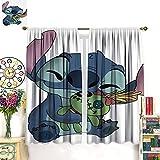 DRAGON VINES Stitch Lilo & Stitch - Cortinas de película de anime Baby Yoda - Cortinas de división para salas de estar, comedores, dormitorios, 132 x 213 cm