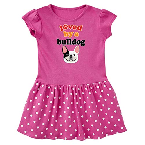 inktastic French Bulldog Gift Infant Dress 6 Months Raspberry with Polka Dots