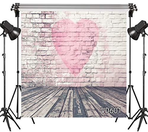 LB Fantasy Valentines Day Backdrops 10x10ft Vinyl Red Love Heart on The Wood Wall Photo Backdrops Customized 80s 90s Photo Background Studio Props