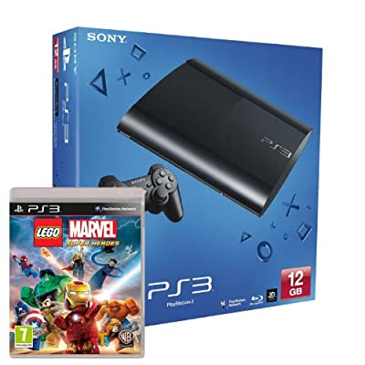 Sony PS3 12GB Super Slim Console with Lego Marvel Superheroes (PS3)