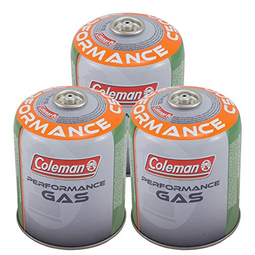 Coleman 3 x C500 Screw Cartridge 440g Valve Gas Cartridge Stove Butane Propane