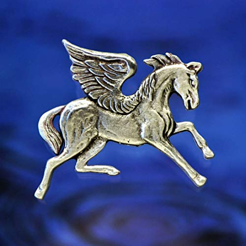 Pegasus The Winged Horse Pin Brooch | Flying Horse | Handcrafted Fine Pewter