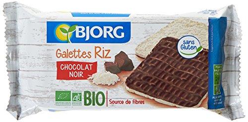 Bjorg Fines Galettes Riz Chocolat Noir Bio 100 g - Lot de 4