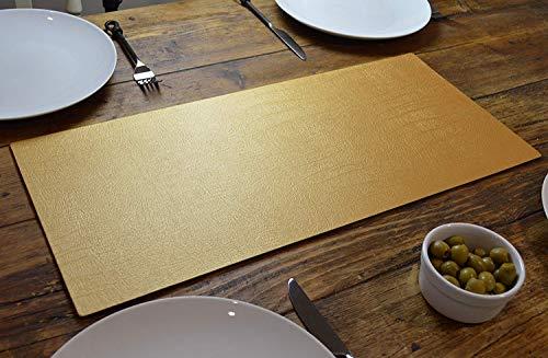 Artisan Gold Bonded Lederen Tafelloper Mat, Eetkamer, 60cm x 27cm, Handgemaakt In het Verenigd Koninkrijk