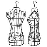 Maniqui Costura Colgando Maniquí Femenino Formas Torso Stand de Metal y Gancho Giratorio, Medio Cuerpo del maniquí de la Vendimia for la Ropa de visualización de la Mujer, de Alta Resistencia Marco