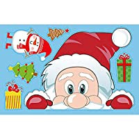 クリスマスウィンドウデカールサンタクローススノーフレークステッカー冬のウォールステッカー子供の部屋の新年のクリスマスウィンドウの装飾のために (Color : 3)