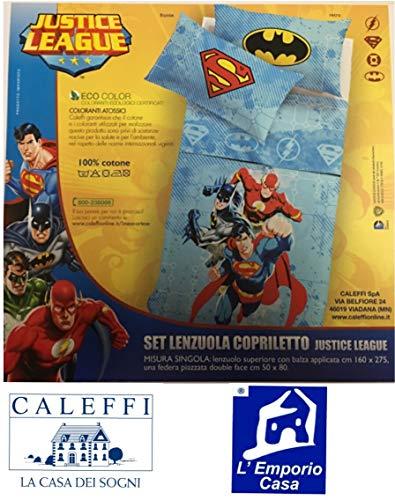 Caleffi Lenzuola parure copriletto Super Eroi