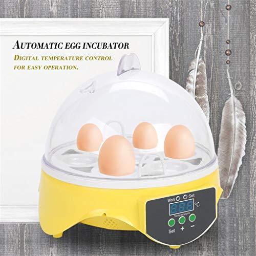 7 Capacidad Huevos de Pollo Huevos de Aves incubadora de Huevos Rack Bandeja automática Inteligente de Control de codorniz Loro incubación Herramienta de Enchufe de la UE