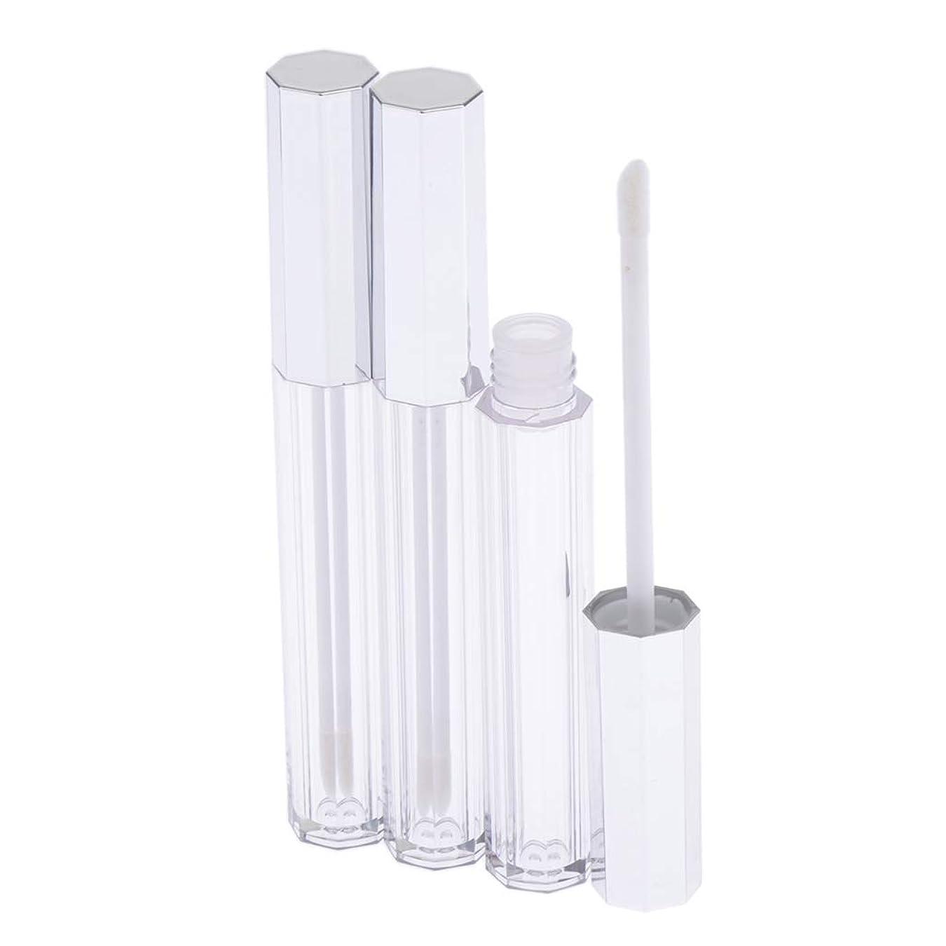 辞書嘆願村リップグロス 容器 チューブ クリア リップスティックチューブ プラスチック 5ml 3個セット