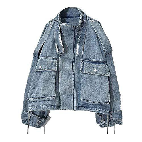 Chaqueta para mujer estilo cuello alto, abrigo suelto y bolsillos elegantes para la temporada