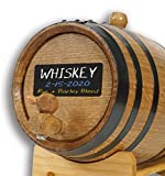 American Oak Barrel (2 liter) with Chalkboard Front - Mini Keg for Aging Bourbon, Scotch, Whiskey, Gin, Hot Sauce - Home Bar Decor by Thousand Oaks Barrel Co.