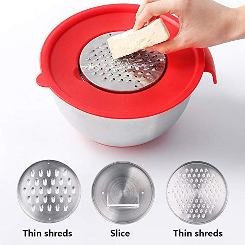 Ingrediënten Bowl Mixing Bowl RVS DIY Cake Brood Salade Mixer Keuken Koken Gereedschap met Schaafmachine Cover