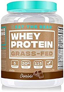 Eat the Bear Naturally Grass Fed Whey Protein Powder, Chocolate