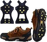 BIFY Schuhspikes, Steigeisen mit 19 Edelstahl Zähne Spikes,Spikes,für Bodenhaftung auf EIS und Schnee and Sport