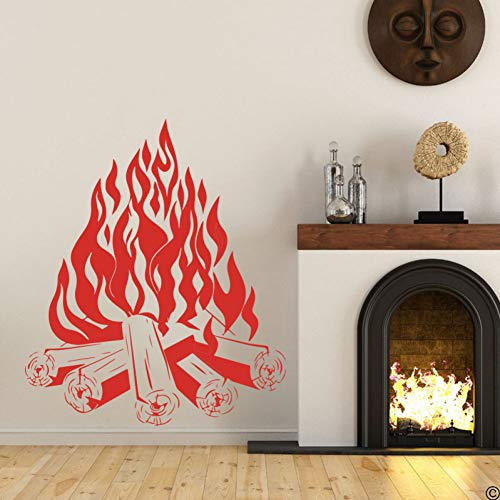 Campfire Camping Fire Fireplace Wall Sticker Entryway Living Room Fire Place Wall Decal Bedroom Vinyl