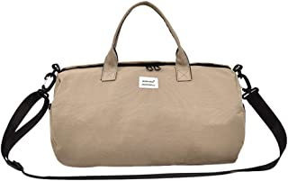 Jiyaru Women's Travel Duffel Canvas Outdoor Waterproof Fitness Bag Overnight Weekend Handbag