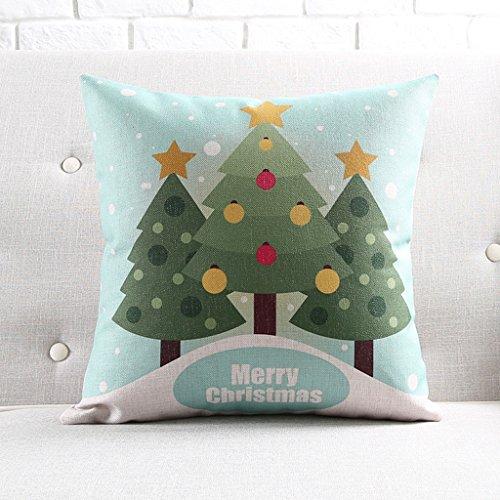 CUSHION MEILING Weihnachtsdekoration Kissen Neujahr Urlaub Baumwolle und Leinen-Sofa-Kissen Display Display-Kissen Lumbar (Farbe : 53cm-Without COR)