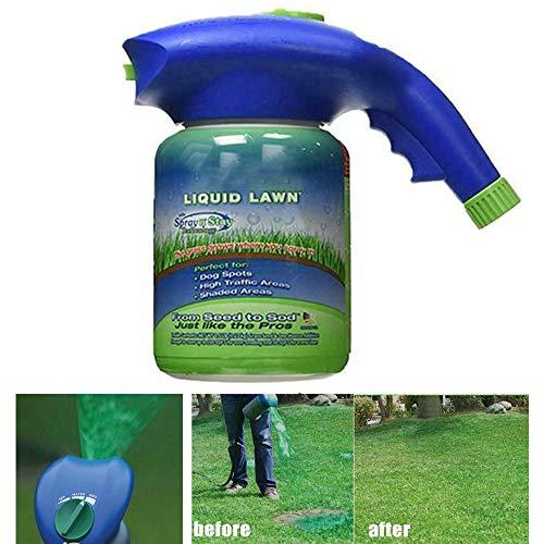 Grassamen-Flüssigkeitssprühgerät, Hydro-Mousse-Rasensamen-Sprühkessel (ohne Saatgut) für die Saatgut-Rasenpflege Grass Shot Household Seeding System (Sprühgerät)