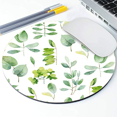 Amcove Green Leaf Mouse Pad Leaves Mouse Pad Round Mousepad Office Decor Mouse Mat Office Gift Mouse Pad Leaf Watercolor Mousepad Square Mouse Pad Photo #4