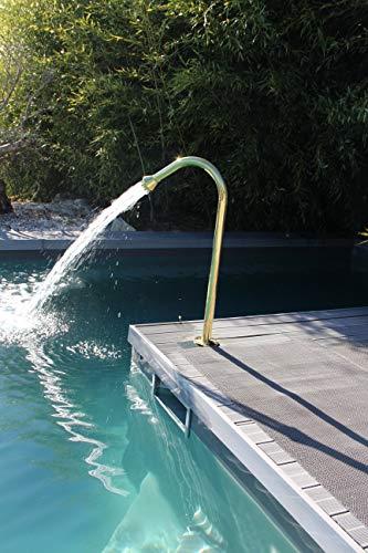 Cascáde - Fuente de acero inoxidable 304 para masaje, chorro de agua, punta de 17...