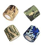 inherited 3 piezas Envoltura de cinta de camuflaje(3 colores), Cintas de camuflaje, No Tejido Tape Cinta de Camuflaje, Camuflaje reutilizable para cazar en bicicleta