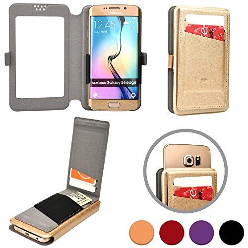 Funda Deslizable Abatible Universal tipo Cartera Cooper Cases (TM) Slider Flip para Smartphone de 5