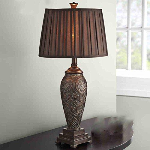 Bonne chose lampe de table Lampe de table européenne Luxury Retro American Bedroom Carved Villa Atmosphere Lampe de table