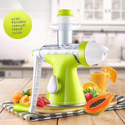 Fruits Vegetables Hand Juicer – Suction Base- Kids Juicer Ice-cream Maker Juice Extractor Masticating Extruder Manual Hand Crank Single Auger Juicer